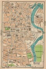 BELFAST. Vintage town city map plan. Ireland 1949 old vintage chart