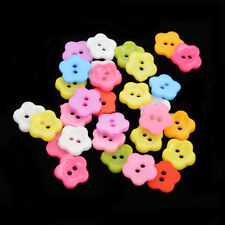 30Pcs Resin Sewing Button Scrapbooking Flower Mixed Two Holes 12.5mm DIY