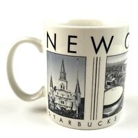 Starbucks New Orleans City Scenes Series Barista 2003 18 oz. Coffee Tea Mug EUC
