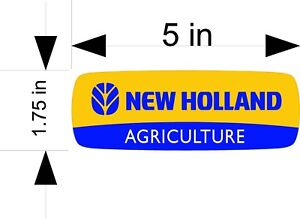 NEW HOLLAND AGRICULTURE tractor / vehicle / window / decals/stickers
