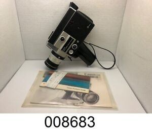 CANON AUTO ZOOM 518 SV SUPER 8 Movie Camera with Canon Hard Case