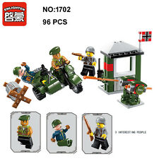Enlighten 1702 Military Army Motorcycle DIY Building Block Toys Compatible