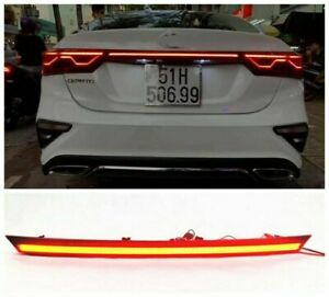 Red For Kia Forte 2019 2020 2021 Rear Door Trunk LED Tail Light Cover