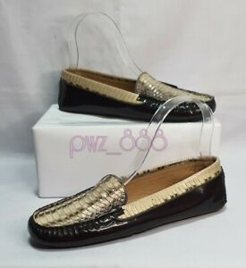 SALVATORE FERRAGAMO Snakeskin Black Patent Leather Loafers Shoes Size 6 1/2 B