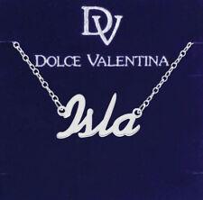 925 Sterling Silber Isla Name Halskette Damen Mädchen Anhänger Geschenk Ready Lager