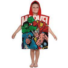 Boys Girls Kids Novelty Character Hooded Towel Poncho Swim Beach Bath Marvel 2