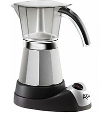 Electric Coffee Maker Expresso Machine Italian Moka Espresso DeLonghi 3 to 6 Cup