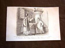 Incisione rame del 1851 Sentenza di morte al Doge di Genova Paolo da Novi