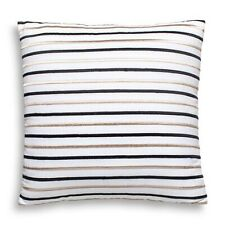 Kate Spade New York Embroidered Striped Decorative Pillow 18 X 18