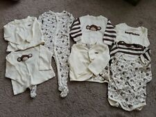 Gymboree Cream Brown Monkey Outfits Layette 12-18 Months Huggable 8 pieces