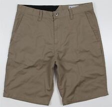 NEW Volcom Frickin Chino Shorts MENS 34 Khaki Polyester Cotton