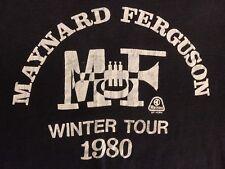 Vintage Maynard Ferguson T-Shirt - Winter Tour 1980, Size L, Black