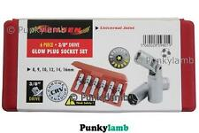 6 Piece 3/8''  Remove Glow Spark Plug  Removal Joint Socket Car Garage Tool Set