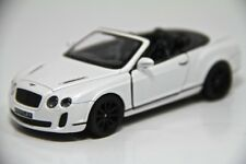 "5"" Kinsmart 2010 Bentley Continental SS Convertible Diecast Model Car 1:38 White"