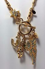 NEW KIRKS FOLLY FLY HOME ANGEL NECKLACE GOLD TONE