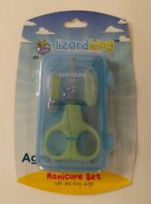 Lizard King Baby Manicure Set w/ Baby Scissors, Baby Clipper, File and Case.