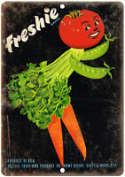 "Freshie Brand Pacific Fruit and Produce Ad 10"" X 7"" Reproduction Metal Sign N433"