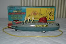 Tin toy Submarine Atomic lungo 33cm Mark Toys Japan