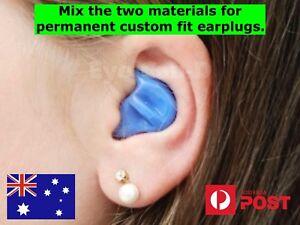 DIY Custom Moulded Ear plugs 26db Molded Earplugs Sleeping Swimming Shooting IEM