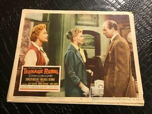 1956 MOVIE LOBBY CARD #4-2356 TEENAGE REBEL - GINGER ROGERS