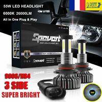 2 pièce 55W 9006 HB4 Voiture LED Ampoules Phare Feux Lampe DRL Kit 30000LM 6000K