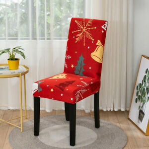 Christmas Chair Covers for Dinning Room Kitchen Christmas Holiday Party Decor