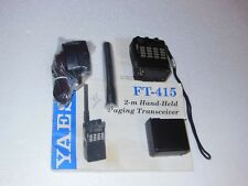 YAESU FT-415 2-m FM Hand Held Transceiver, Battery, Charger, Cable Mic & Manual