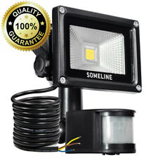 Security Light with Motion Sensor 10W Outdoor Led Floodlight Pir Outside...