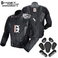 Motorcycle Jacket Armored Motorbike Road Waterproof Jacket Protective Pads Mens