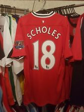 Manchester United Football Shirt 2011/12 Home Large ~ Scholes 18