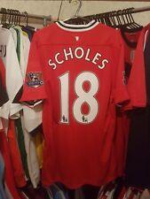 Camiseta de fútbol del Manchester United 2011/12 Home grandes ~ Scholes, 18