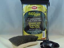 RAGGTOPP FABRIC PROTECTANT CLEANER KIT CONVERTIBLE TOP UV BLOCK HORSE HAIR BRUSH