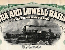 Nashua and Lowell Railroad Corp share Eisenbahn Aktie 1927 USA Westernlokomotive