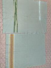 2 Vintage Mint Freen Tea Towels Handstitched.