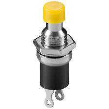 10 x Miniatur Drucktaster Metall 1-polig 2 Kontakte Schließer 0,5A Gelb 4442