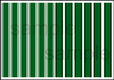 New Peel And Stick1:64 Scale Hot Wheels Long Racing Stripes Stripe Green Decals