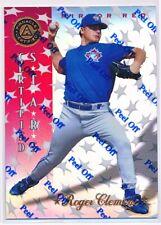 ROGER CLEMENS 1997 PINNACLE CERTIFIED MIRROR RED PARALLEL W/ PEEL #138 BLUE JAYS