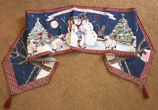 Heaven & Nature Sing ~ Snowmen//Lambs/Cat Christmas Tapestry Table Runner