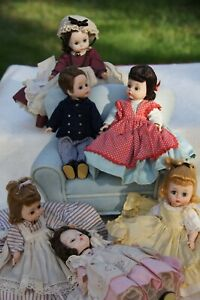 "Madame Alexander Kins Little Women Set 6 Dolls 7.5"" Jo Meg Amy Beth Marme Laurie"