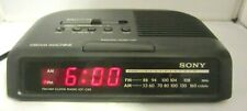 SONY  Dream  Machine Vintage  AM/FM Clock Radio ICF-C25 Tested And Working!