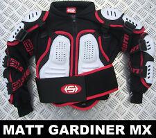 Niños Stern Motocross Protector Protección Blanco Bionic Suit Chaqueta Quad