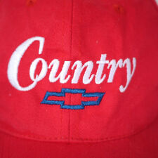 Vintage Country CHEVY Chevrolet Baseball Cotton Trucker Cap RED Hat One Size