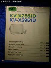 Sony Bedienungsanleitung KV X2551D / X2951D Color TV (#2061)