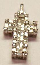 1.20 ct. Diamond cross pentant 18K white gold