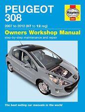 Haynes Peugeot 308 1.4 1.6 VTi & Turbo Petrol 1.6 HDi Diesel 2007-12 Manual 5561