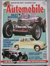 The Automobile magazine 07/2002 featuring Ferrari, McFarlan, Rover, Rolls Royce