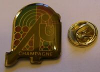 CHAMPAGNE AY French Wine vintage pin badge
