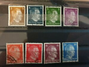 Germany - 1941 - Adolf Hitler - 8 stamp lot - used