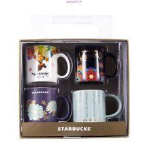 New (Set Of 4 In Gift Box) Starbucks Coffee Korea Mini Demitasse Espresso Mugs