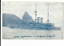 Military Naval Postcard - H.M.S. Montagu, Aground at Lundy.